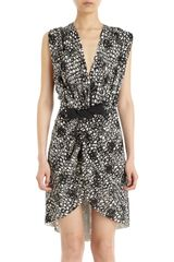 Balenciaga Printed Wrap Dress - Lyst