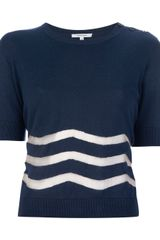 Carven Sheer Chevron Top - Lyst