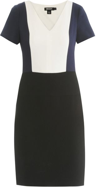 DKNY Colourblock Dress - Lyst