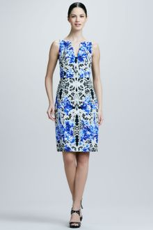 Elie Tahari Nessa Printed Sheath Dress - Lyst