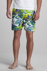 Etro Ocean Print Swim Trunks - Lyst