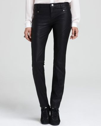 Free People Pants Vegan Leather Skinny in Black - Lyst