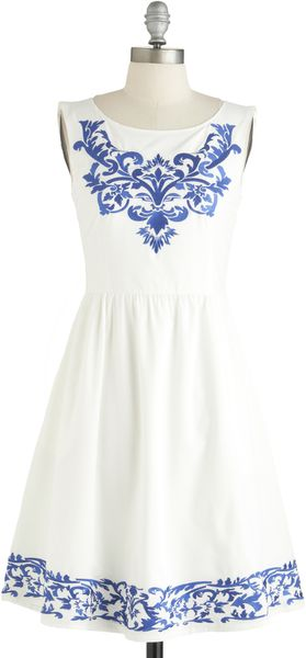 ModCloth Seaside Serenade Dress - Lyst
