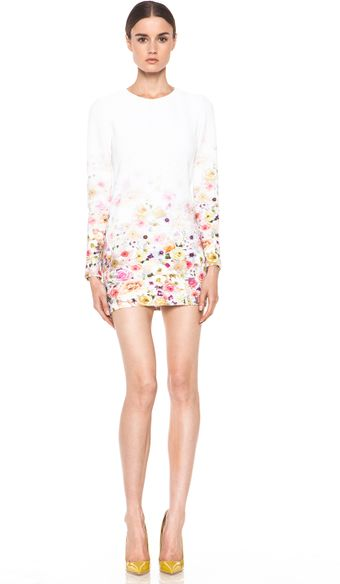 MSGM Fitted Floral Ombre Dress  - Lyst
