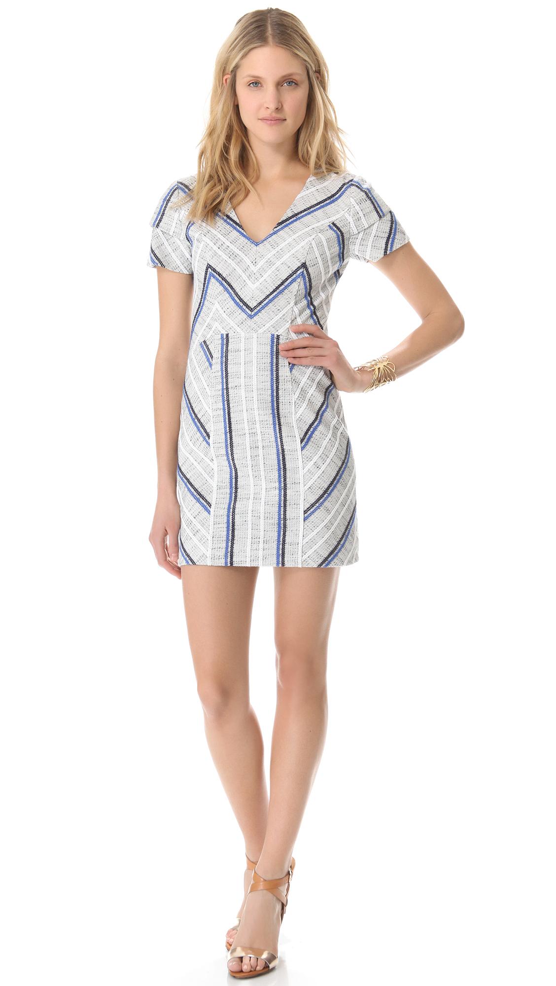 Lyst Rebecca Minkoff Sanderson Tweed Katya Dress In Gray