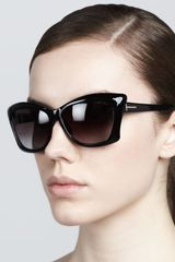 Tom Ford Lana Square Cateye Sunglasses - Lyst