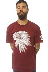 Vans The Headdress Tee in Burgundy - Lyst