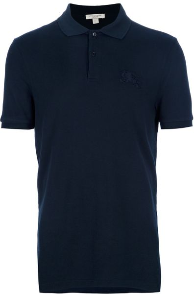 Burberry Brit Polo Shirt In Blue For Men Navy Lyst