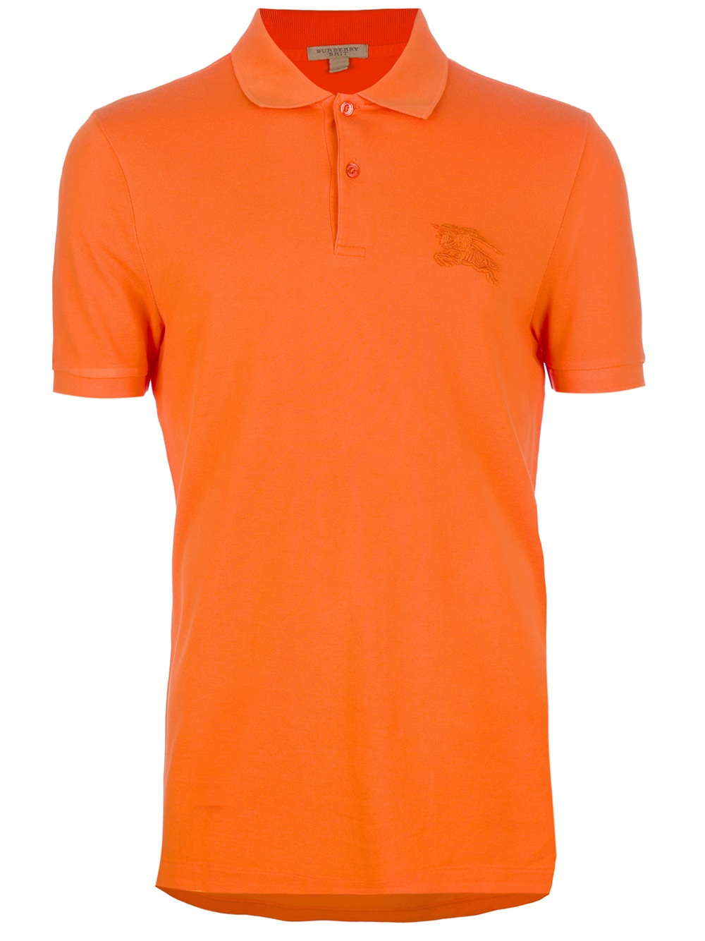 Burberry Brit Polo Shirt In Orange For Men Lyst