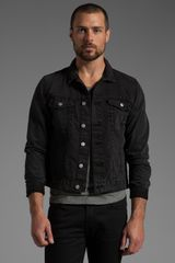 Cheap Monday Tobias Jean Jacket in Washed Black - Lyst