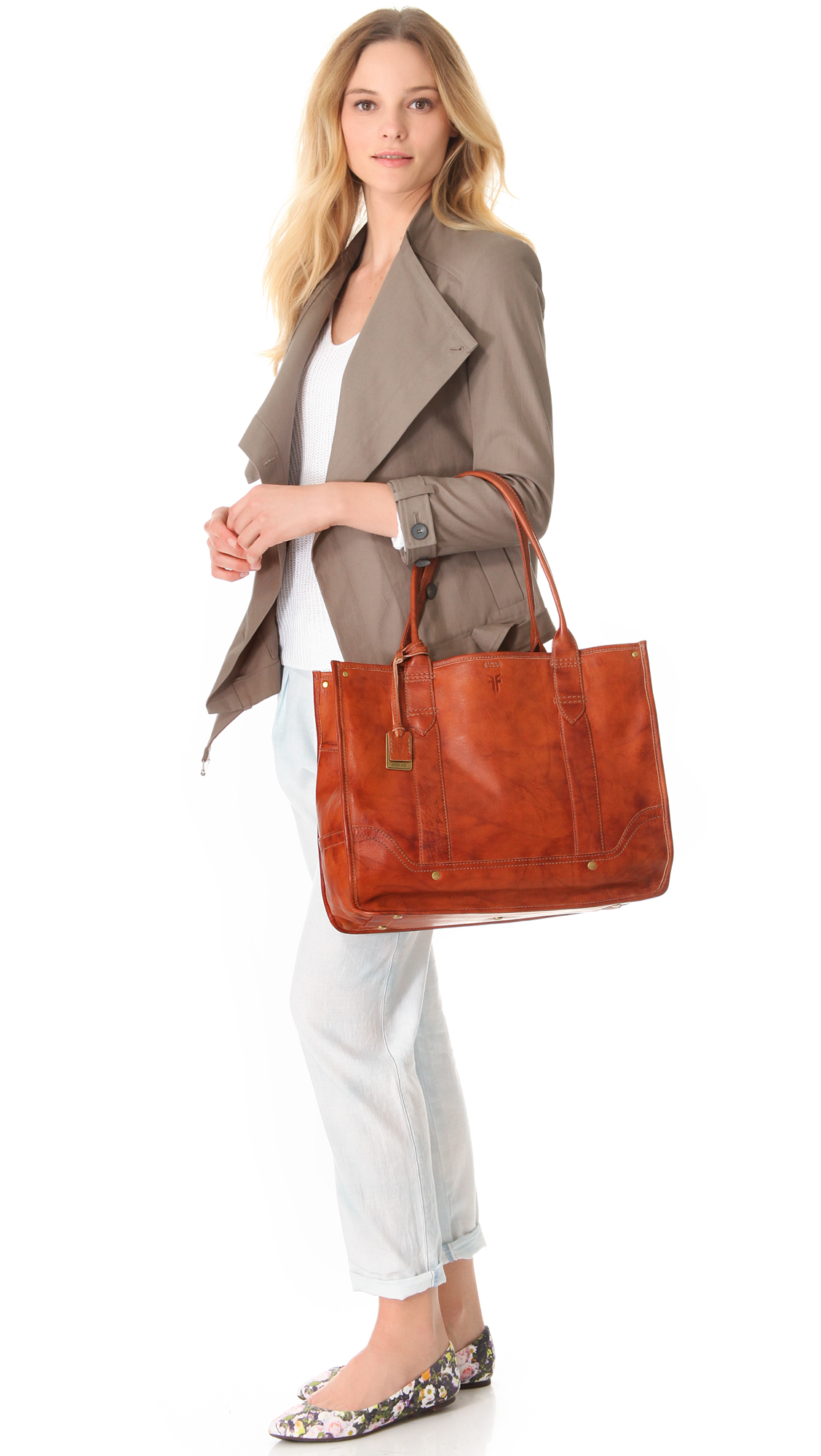 074a10f447b8 Lyst - Frye Campus Shopper Tote in Brown