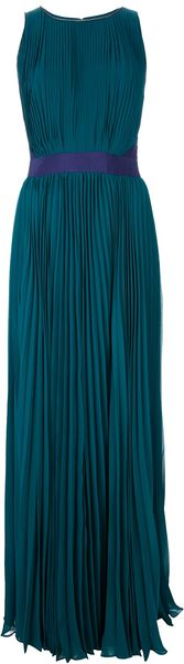 Halston Heritage Pleated Maxi Dress - Lyst