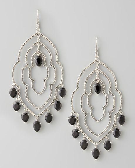John hardy batu dot morocco chandelier earrings in silver for John hardy jewelry earrings
