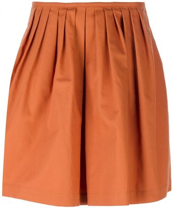 L'Autre Chose Pleated Canvas Skirt - Lyst