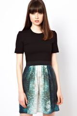 Markus Lupfer Fish Print 2 in 1 Dress - Lyst
