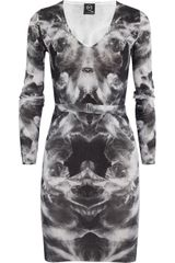 McQ by Alexander McQueen Printed Silk and Cotton-Blend Sweater Dress - Lyst