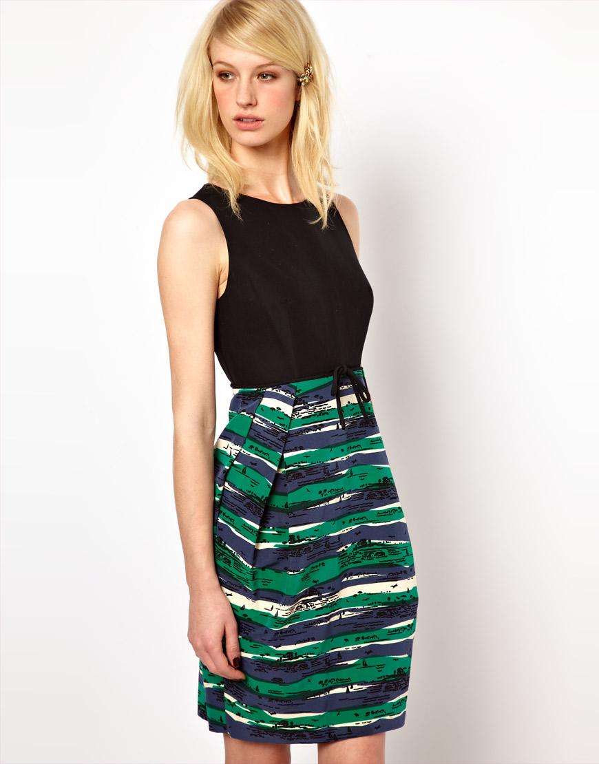 Lyst Orla Kiely Sleeveless Dress In Seaview Print