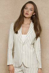 Ralph Lauren Blue Label Striped Linen Hannah Jacket - Lyst