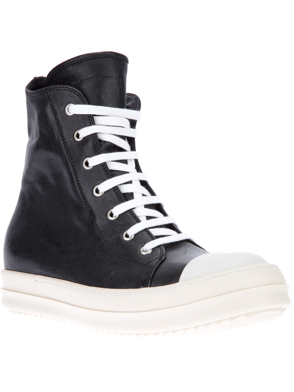 Rick OwensLeather High Trainers sJkOchzYv