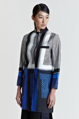 Sacai Print Patterned Coat - Lyst