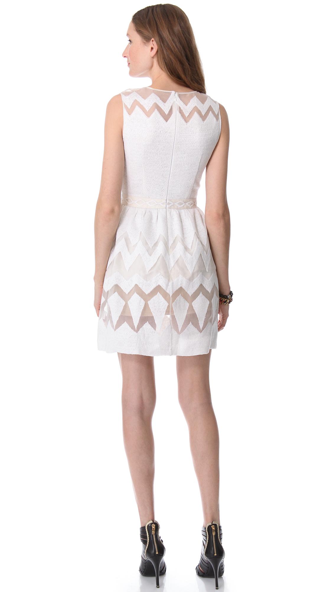Lyst saloni organza sleeveless dress in white - Salon prestige organza ...