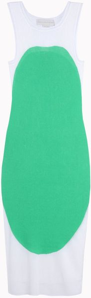 Stella McCartney Intarsia Sleeveless Dress - Lyst