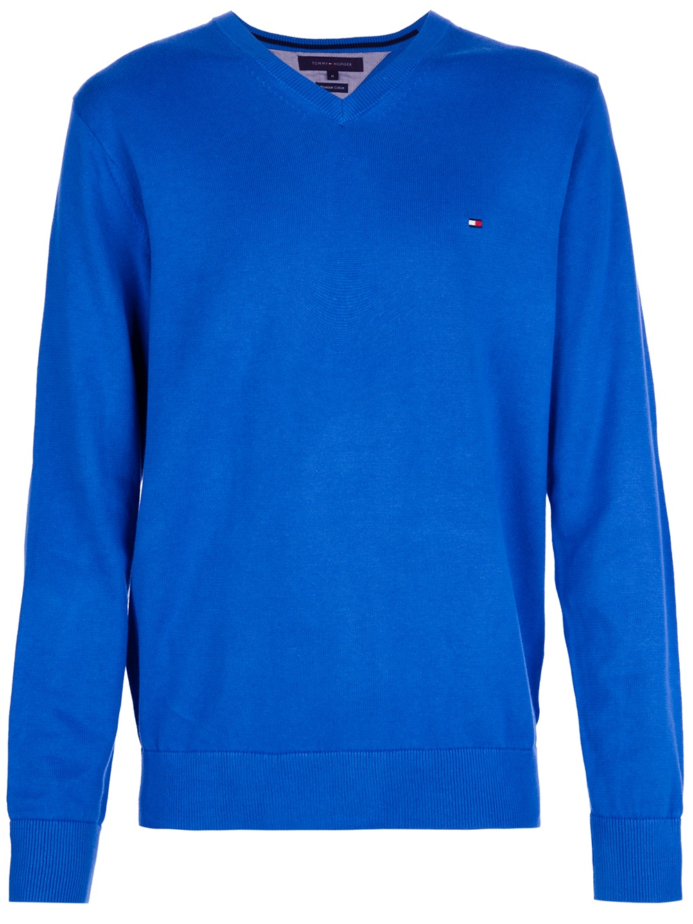 lyst tommy hilfiger vneck sweater in blue for men