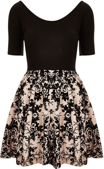 Topshop Devore Skater Dress  - Lyst