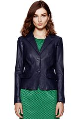 Tory Burch Leather Cheryl Jacket - Lyst
