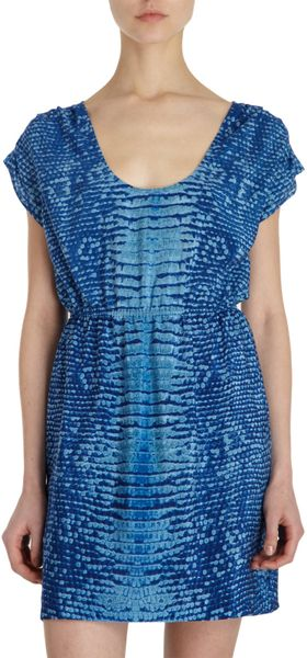 Twelfth Street by Cynthia Vincent Lizard Print Dress - Lyst