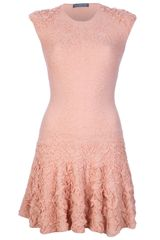 Alexander McQueen Engineered Knit Jacquard Dress