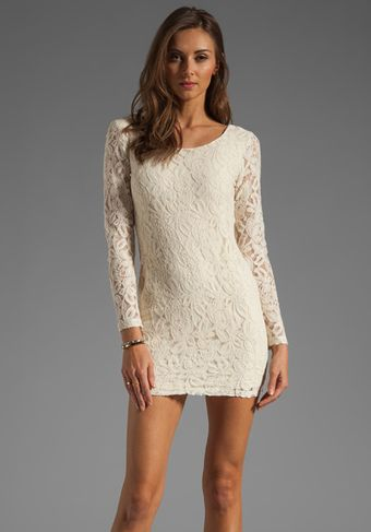 Blaque Label Long Sleeve Lace Dress - Lyst