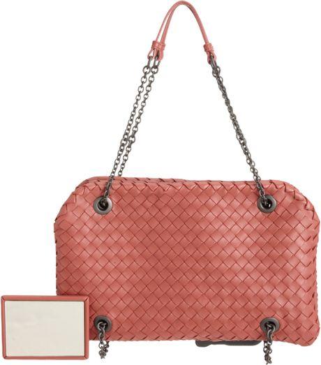 a54986cf1095 Bottega Veneta Intrecciato Duo Bag in Pink (black)