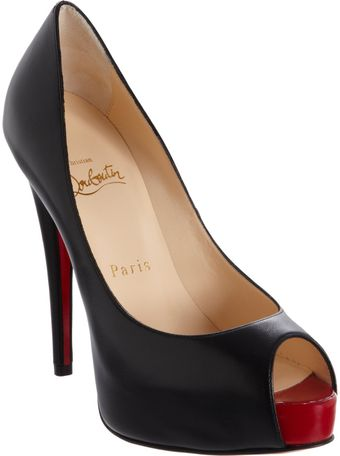Christian Louboutin Vendome Peep Toe Pumps - Lyst