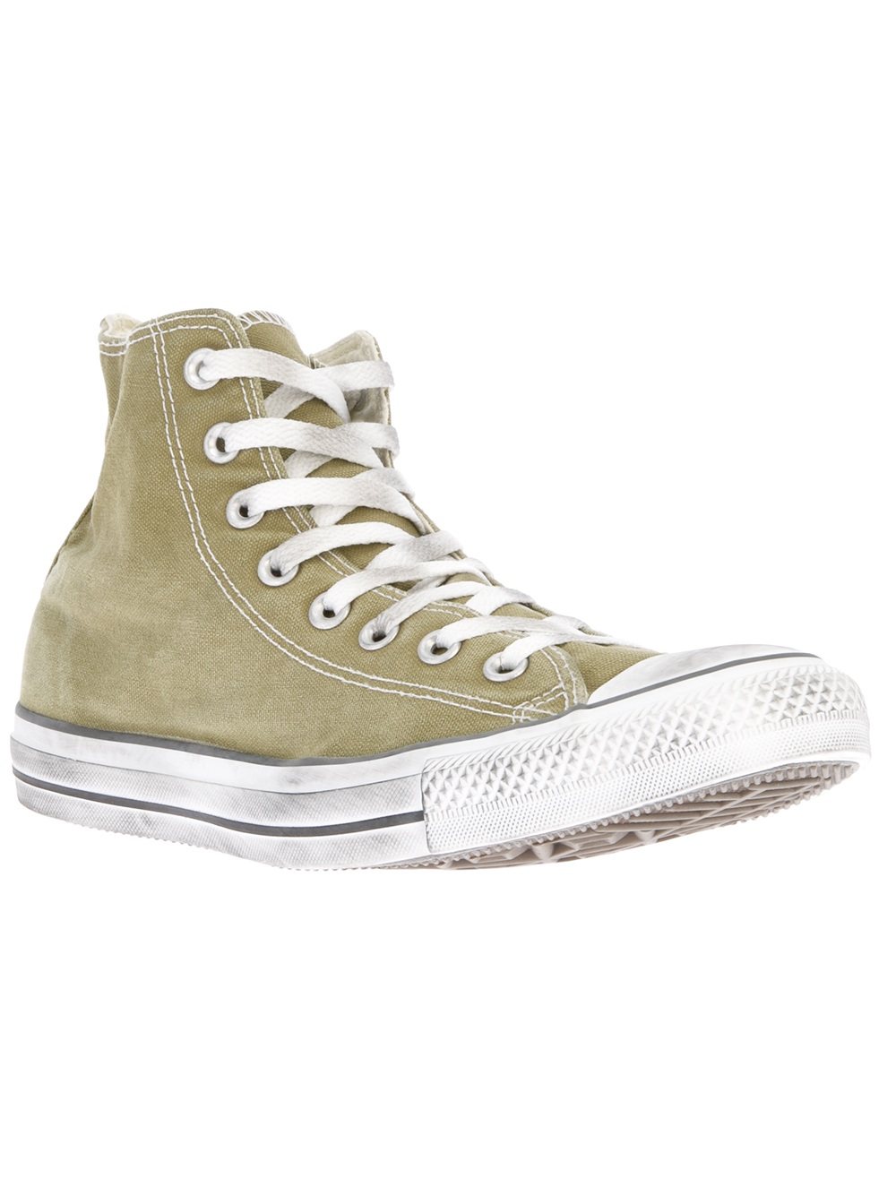 Lyst Converse Hi Top Trainer In Green For Men
