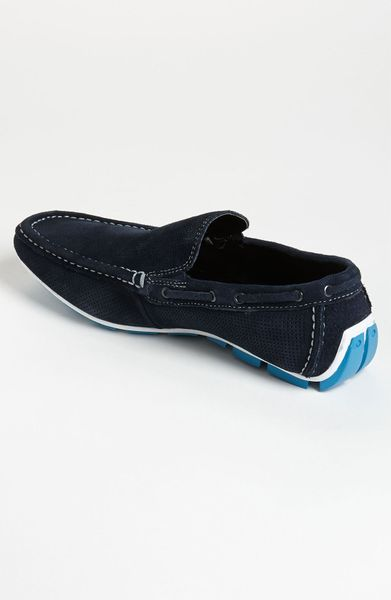kenneth cole reaction traffic light driving shoe in blue