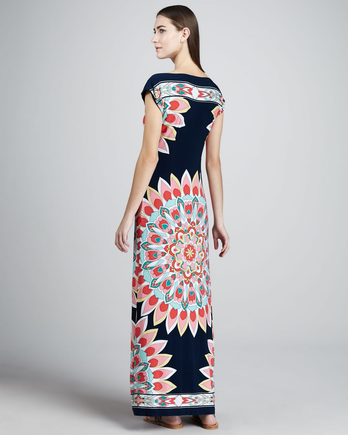 c096f5e91718a Melissa Masse Kaleidoscopeprint Jersey Dress in Blue - Lyst