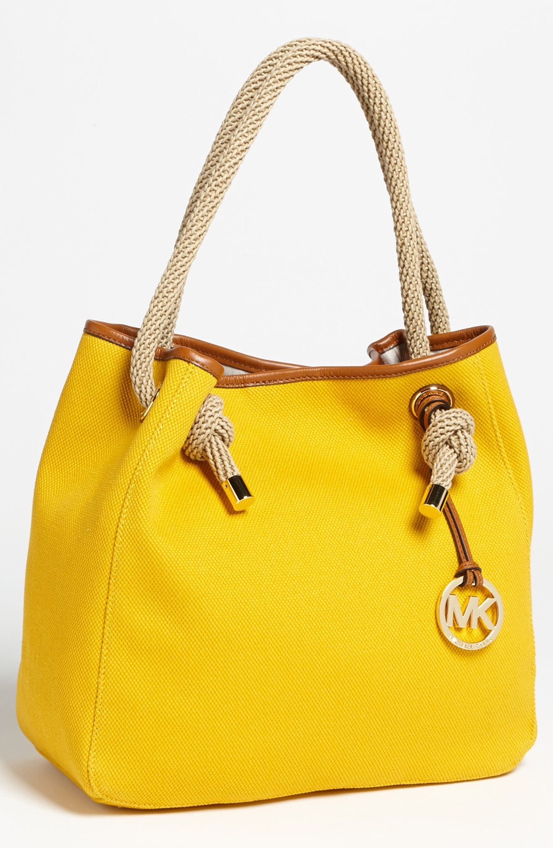 Bolsa Michael Kors Marina : Michael kors marina large tote in yellow end of