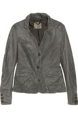 Muubaa Brushed Leather Blazer - Lyst