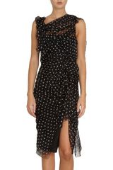 Nina Ricci Polka Dot Sleeveless Dress - Lyst