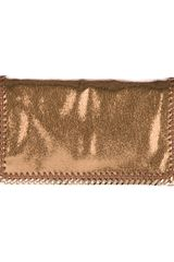 Stella McCartney Metallic Crackle Falabella Bag - Lyst