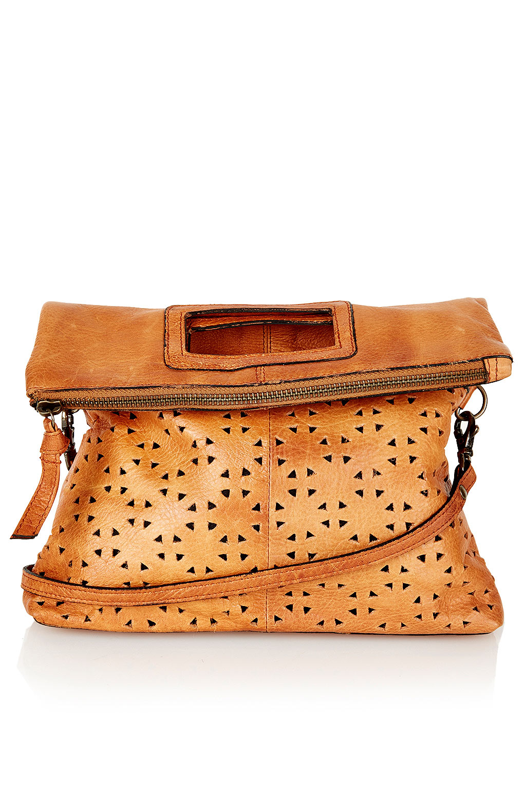 Topshop Perforated Leather Crossbody Bag 102