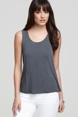 Eileen Fisher Scoop Neck Tank - Lyst