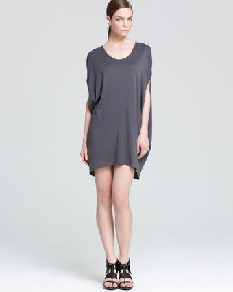 Helmut Lang Asymmetric Hem Dress Drop - Lyst