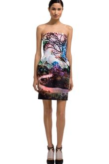 Mary Katrantzou Fauwi Strapless Puff Dress - Lyst