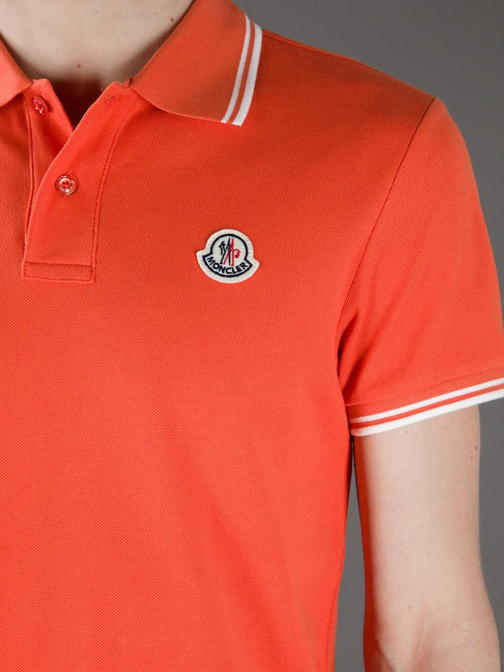 orange moncler t shirt