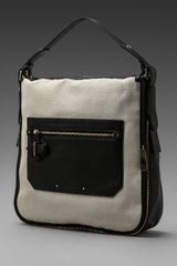 10 Crosby by Derek Lam Canvas Leather Crosby Bag in Chalk - Lyst