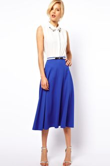 ASOS Collection Midi Skirt in Texture - Lyst