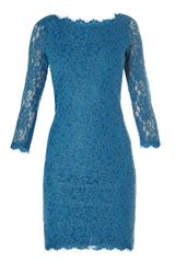 Diane Von Furstenberg Sheer Lace Dress - Lyst