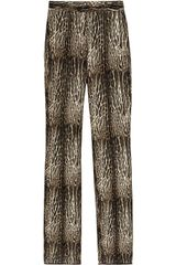 Giambattista Valli Animalprint Wool and Silkblend Pants - Lyst